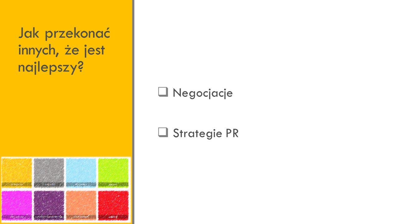 Jak przekonać innych, że jest najlepszy? Negocjacje Strategie PR