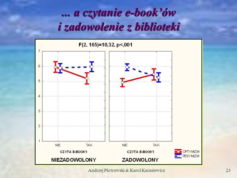 Andrzej Piotrowski & Karol Karasiewicz23... a czytanie e-booków i zadowolenie z biblioteki
