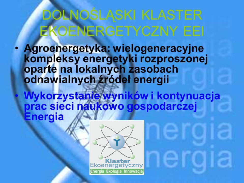 DOLNOŚLĄSKI KLASTER EKOENERGETYCZNY EEI Agroenergetyka: wielogeneracyjne kompleksy energetyki rozproszonej oparte na lokalnych zasobach odnawialnych ź