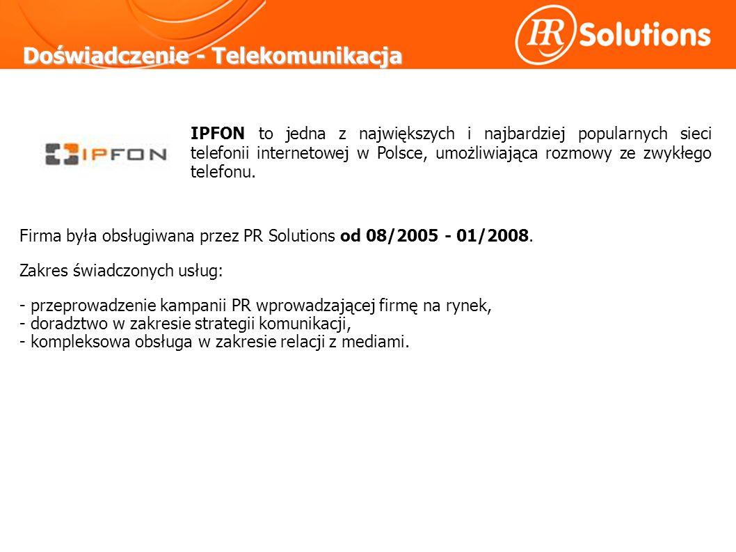 Doświadczenie - Telekomunikacja IPFON to jedna z największych i najbardziej popularnych sieci telefonii internetowej w Polsce, umożliwiająca rozmowy ze zwykłego telefonu.