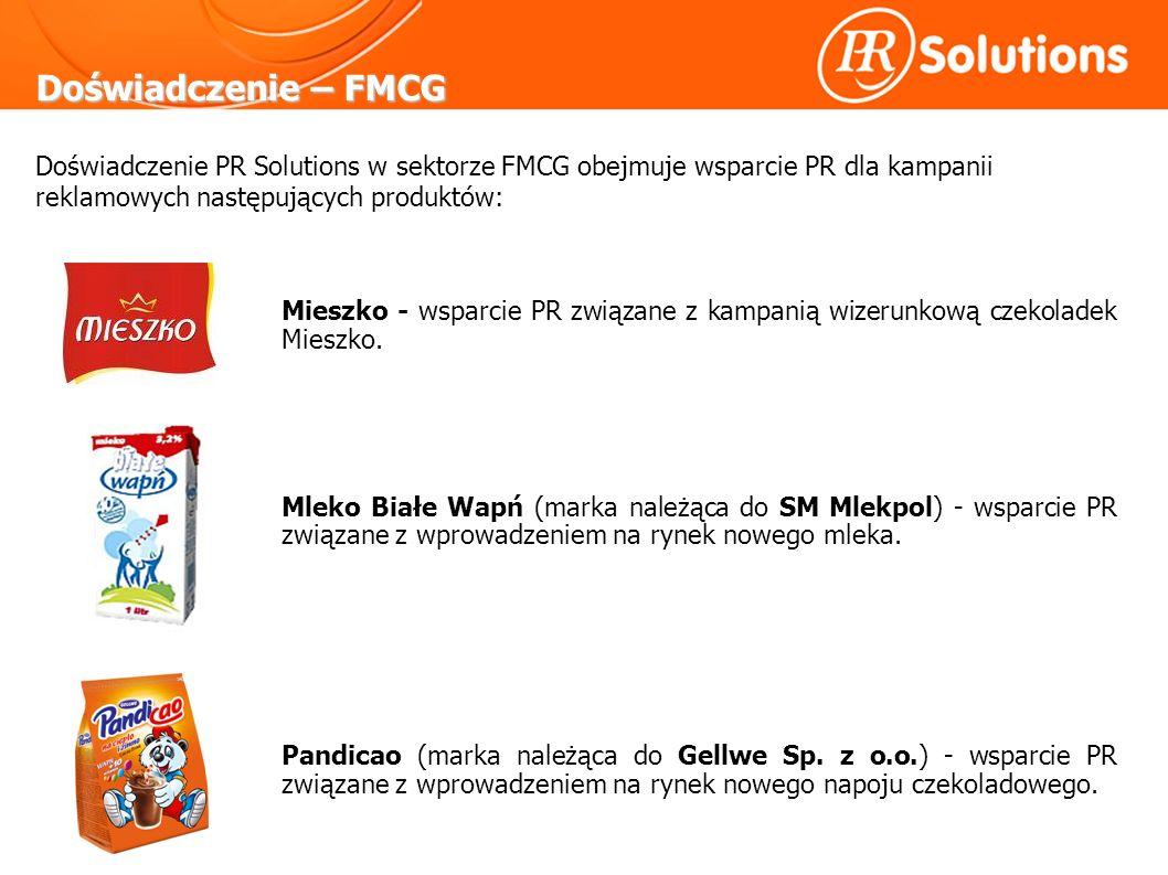 Doświadczenie – FMCG Mieszko - wsparcie PR związane z kampanią wizerunkową czekoladek Mieszko.