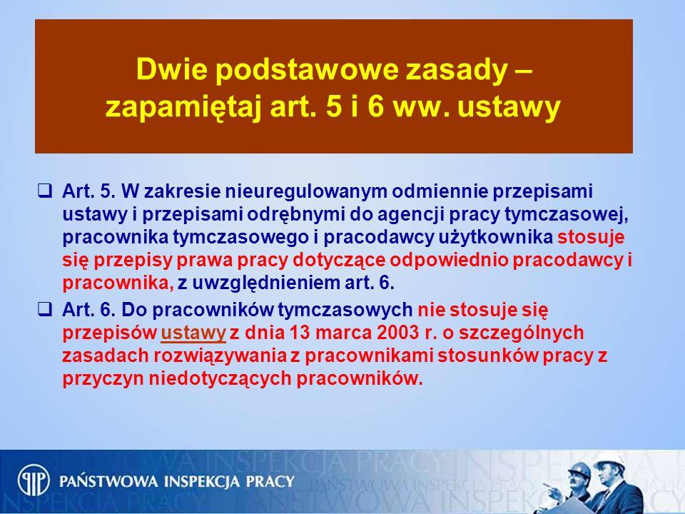 Dwie podstawowe zasady – zapamiętaj art. 5 i 6 ww. ustawy Art. 5. W zakresie nieuregulowanym odmiennie przepisami ustawy i przepisami odrębnymi do age