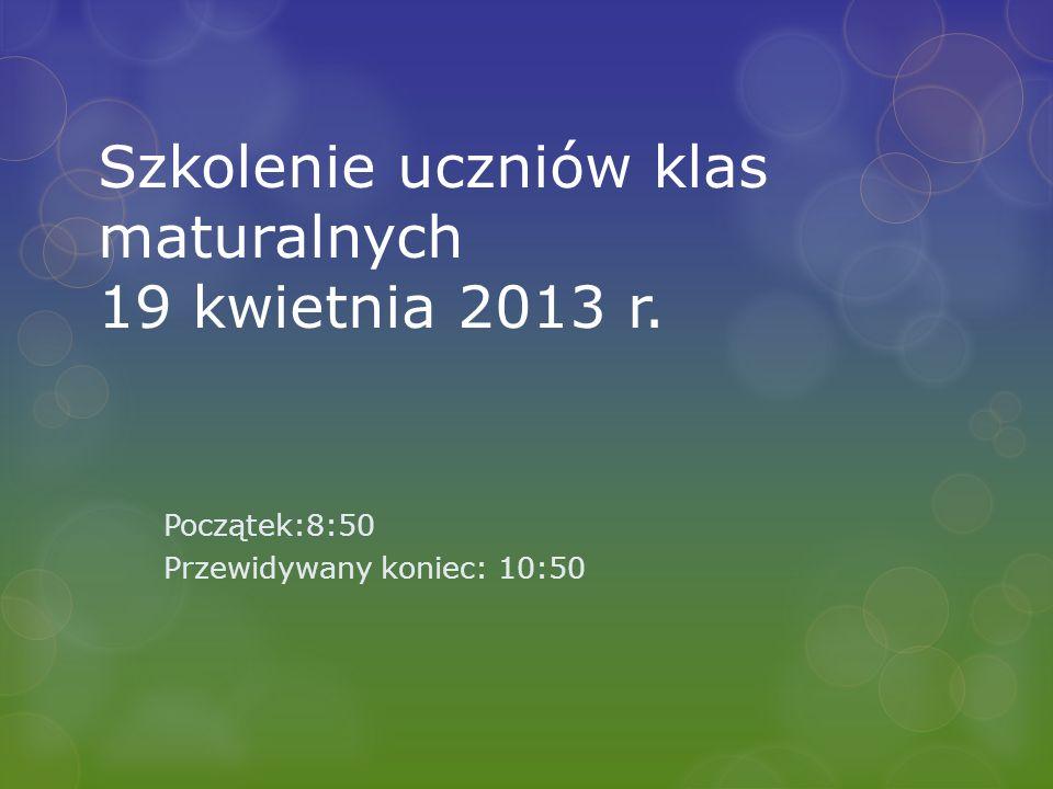 Komunikaty dyrektora CKE Komunikat z 5 marca 2013 r.