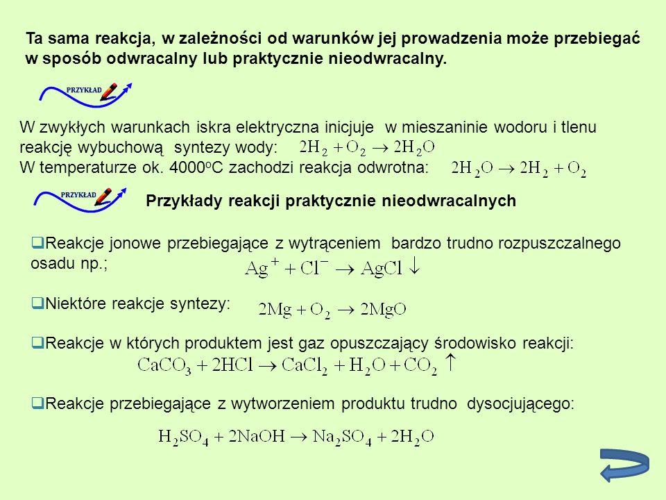 Szybkość reakcji chemicznej Reakcje przebiegają z bardzo różną szybkością jedne są momentalne (reakcje jonowe), inne powolne (polimeryzacji), wreszcie znane są reakcje powolne o szybkościach znikomo małych np.