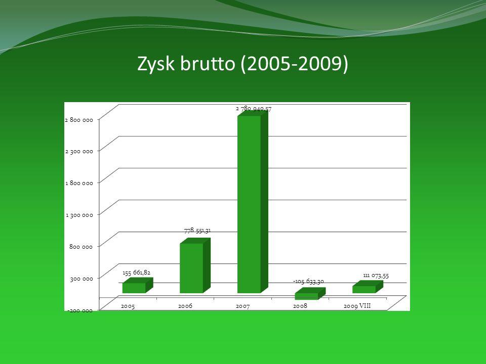 Zysk brutto (2005-2009)
