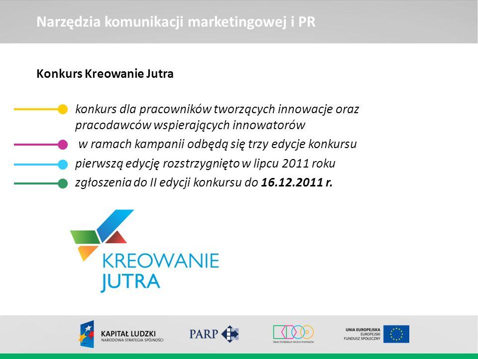 Narzędzia komunikacji marketingowej i PR Konkurs Kreowanie Jutra konkurs dla pracowników tworzących innowacje oraz pracodawców wspierających innowator