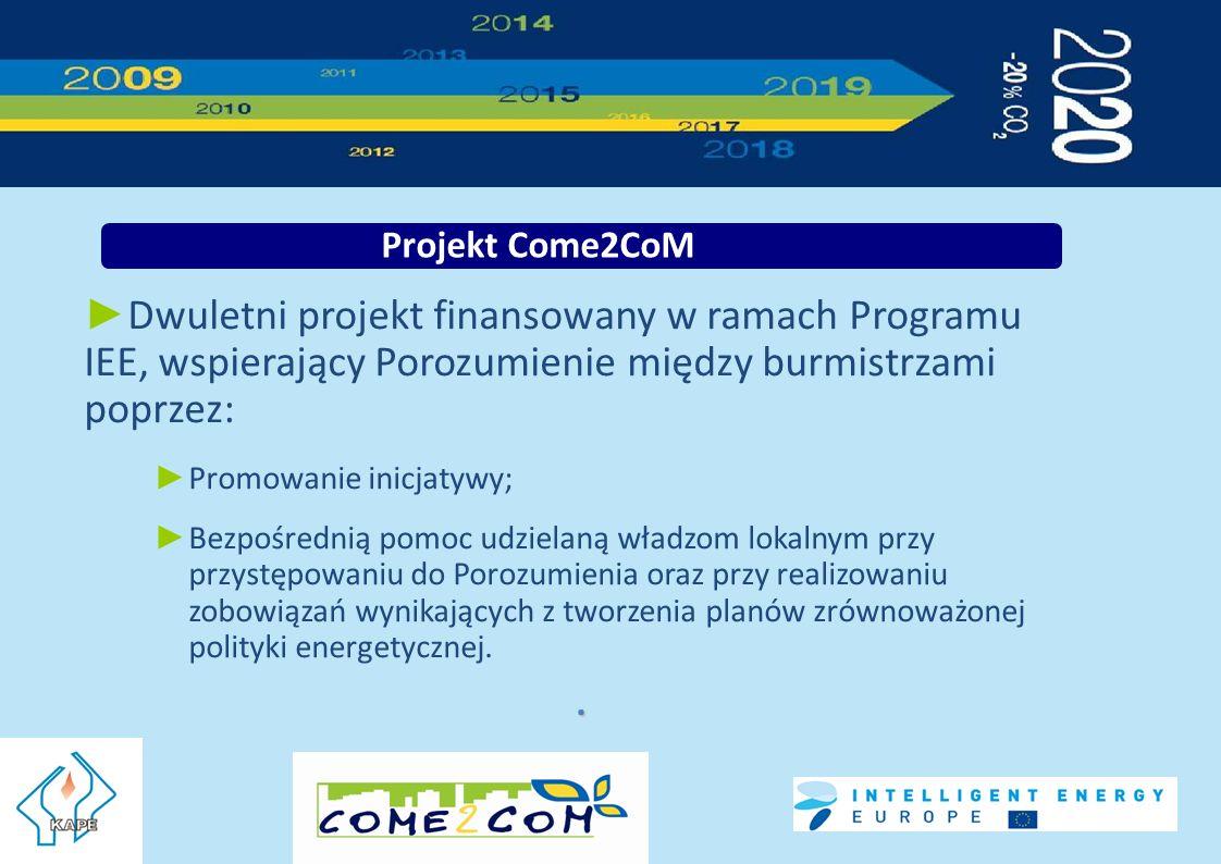 Dwuletni projekt finansowany w ramach Programu IEE, wspierający Porozumienie między burmistrzami poprzez: Promowanie inicjatywy; Bezpośrednią pomoc udzielaną władzom lokalnym przy przystępowaniu do Porozumienia oraz przy realizowaniu zobowiązań wynikających z tworzenia planów zrównoważonej polityki energetycznej..