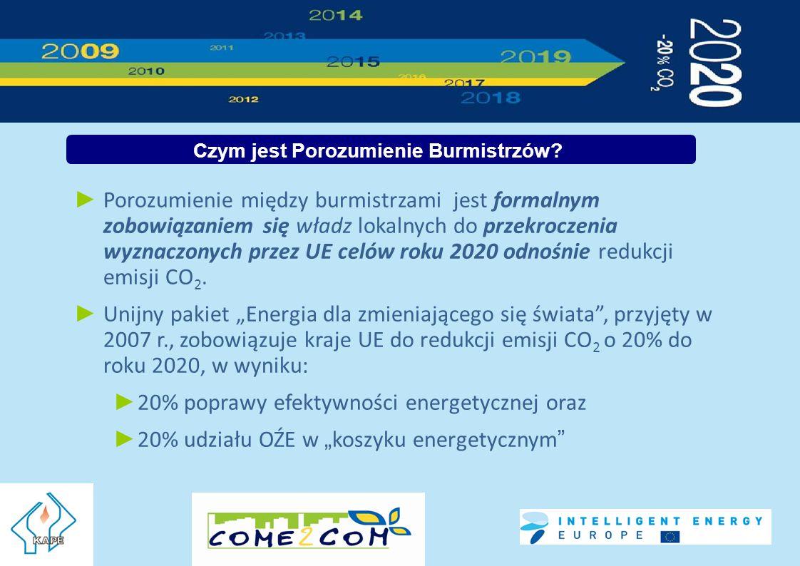 Porozumienie między burmistrzami jest formalnym zobowiązaniem się władz lokalnych do przekroczenia wyznaczonych przez UE celów roku 2020 odnośnie redukcji emisji CO 2.