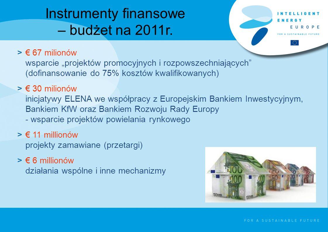 W 2010 w ramach programu IEE ruszyło aż pięć projektów poświęconych zrównoważonym systemom energetycznym: City_SEC – ARR S.A.