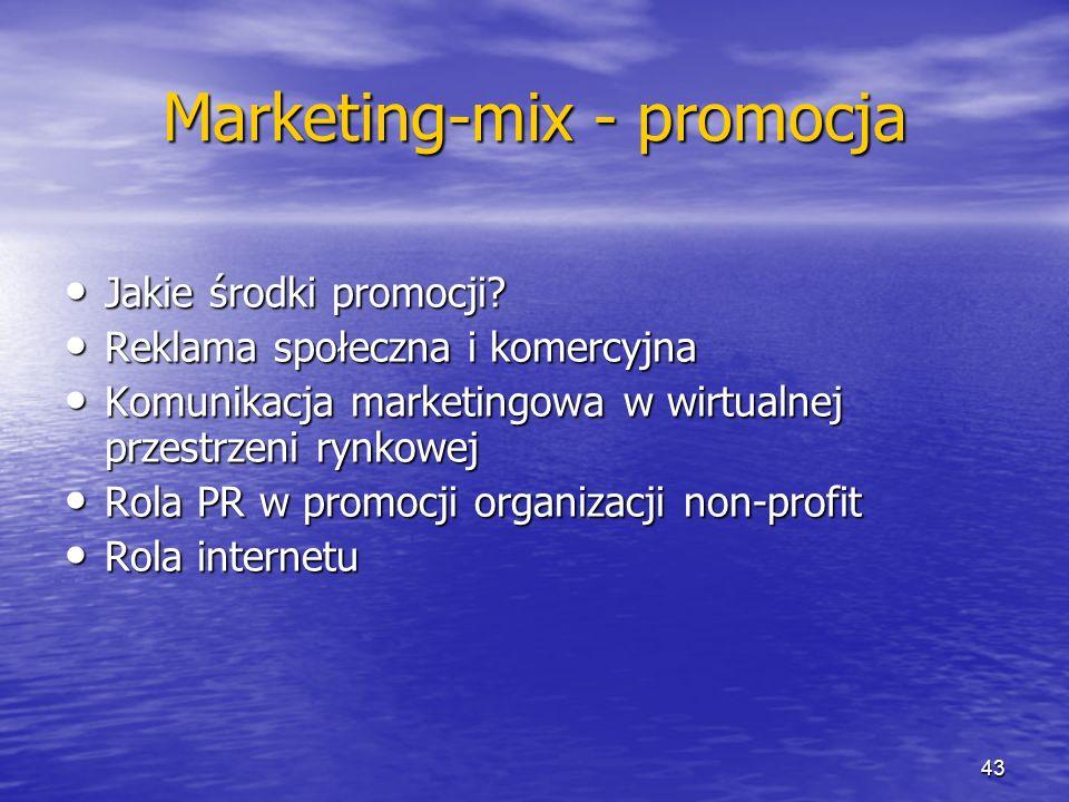 Marketing-mix - promocja Jakie środki promocji? Jakie środki promocji? Reklama społeczna i komercyjna Reklama społeczna i komercyjna Komunikacja marke