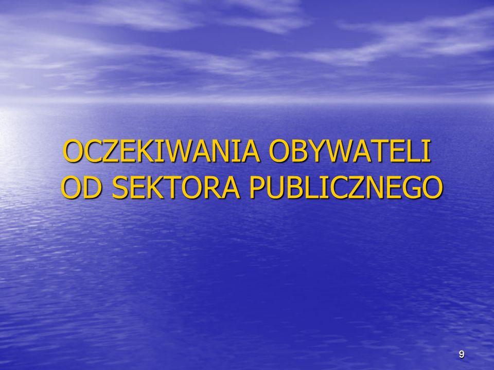 OCZEKIWANIA OBYWATELI OD SEKTORA PUBLICZNEGO 9