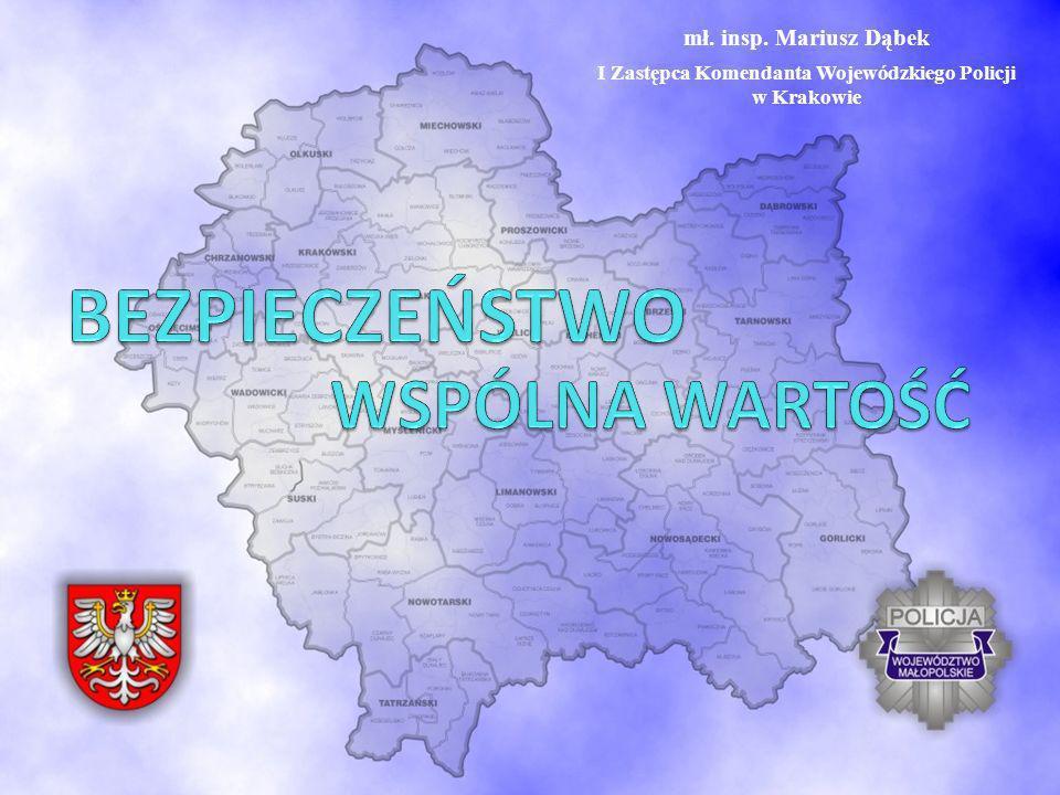 mł. insp. Mariusz Dąbek I Zastępca Komendanta Wojewódzkiego Policji w Krakowie