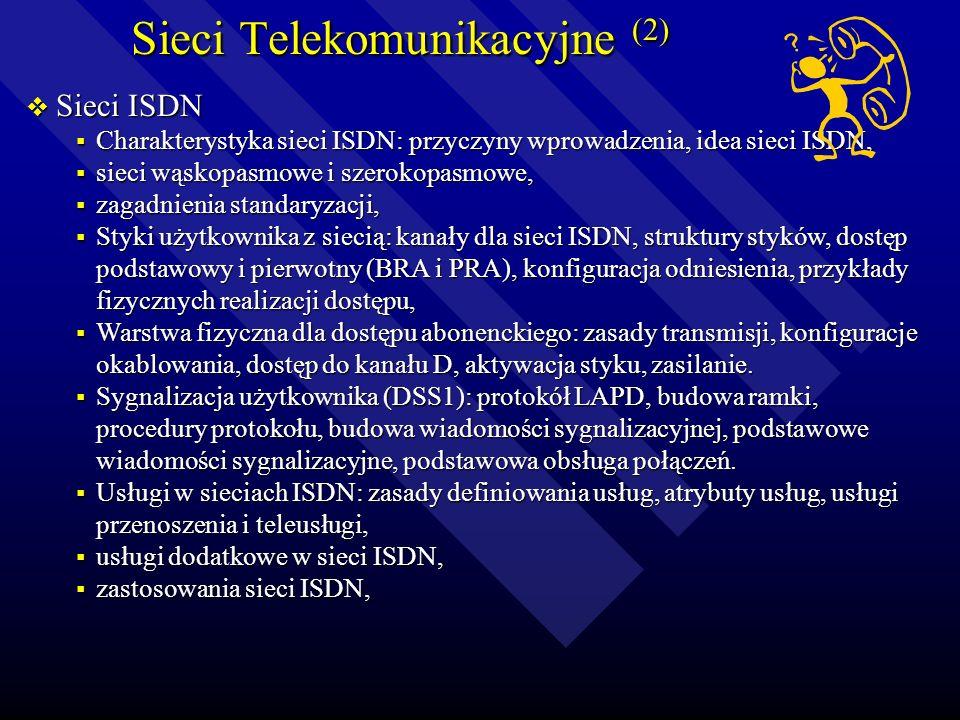 Sieci Telekomunikacyjne (1) Elementy systemów telekomunikacyjnych Elementy systemów telekomunikacyjnych Model cyfrowego systemu telekomunikacyjnego, M