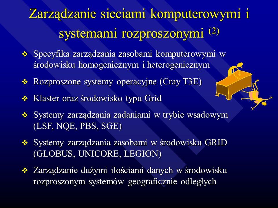 Zarządzanie sieciami komputerowymi i systemami rozproszonymi (1) Modele zarządzania SK-ISO Modele zarządzania SK-ISO Modele zarządzania SK-SNMP Modele