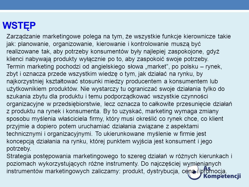 9.PLAN MARKETINGOWY FIRMY 1. Analiza rynku – analiza nabywców 2.