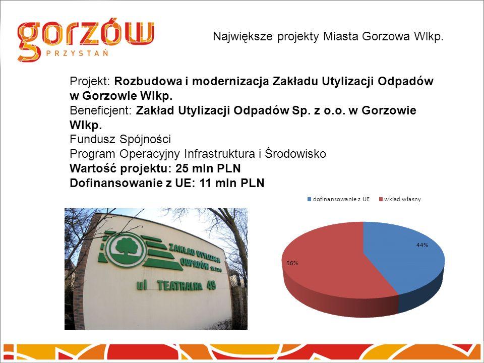 Projekt: Rozbudowa i modernizacja Zakładu Utylizacji Odpadów w Gorzowie Wlkp.