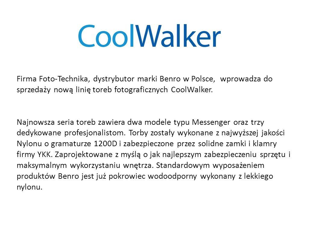Firma Foto-Technika, dystrybutor marki Benro w Polsce, wprowadza do sprzedaży nową linię toreb fotograficznych CoolWalker. Najnowsza seria toreb zawie