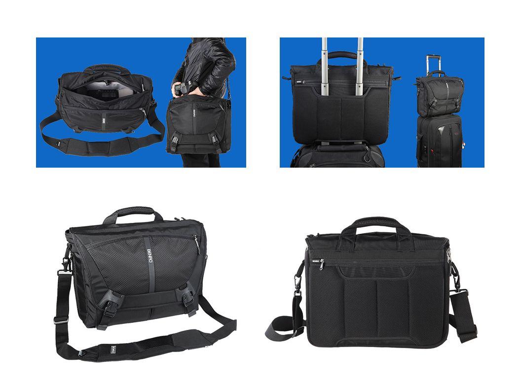 CoolWalker M200N Druga torba z serii Messenger pomieści lustrzankę, 2 obiektywy, lampę oraz laptopa w rozmiarze 14.