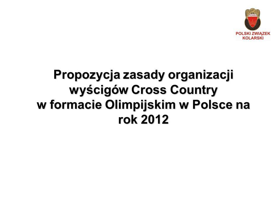 Propozycja zasady organizacji wyścigów Cross Country w formacie Olimpijskim w Polsce na rok 2012
