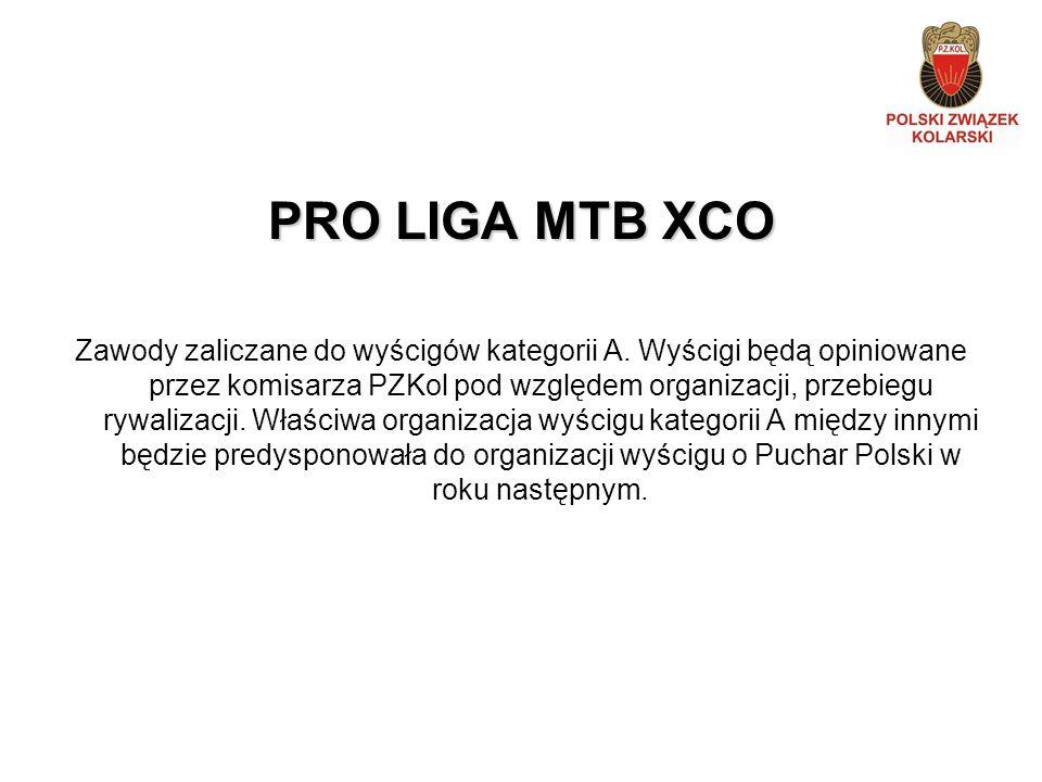 PRO LIGA MTB XCO Zawody zaliczane do wyścigów kategorii A.