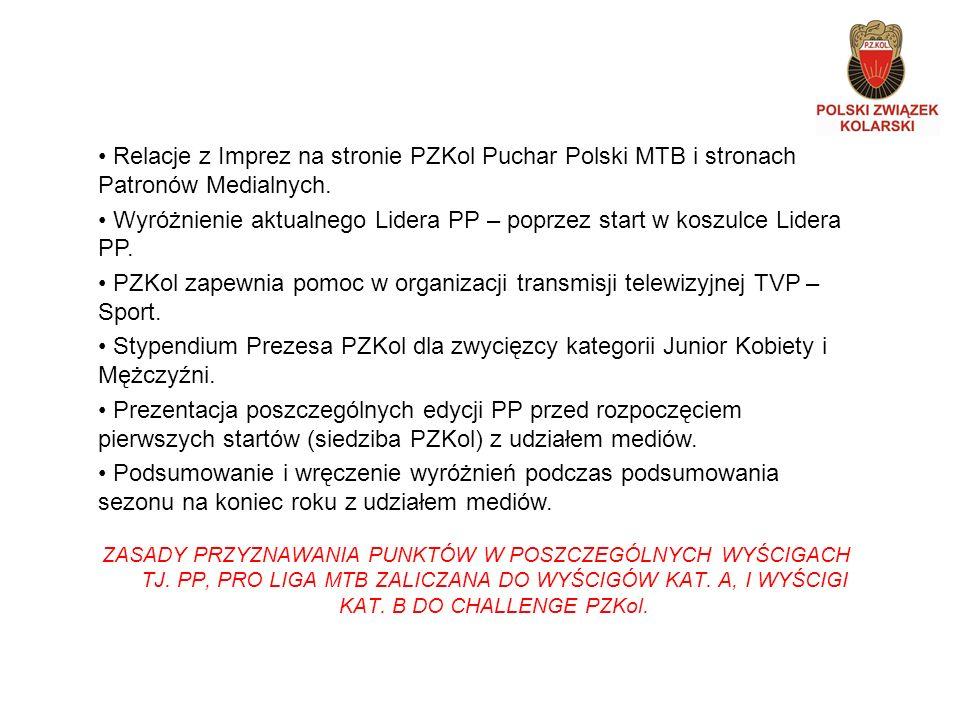 Promocja miast i głównych sponsorów poszczególnych edycji na wszystkich cyklach PRO LIGI MTB.