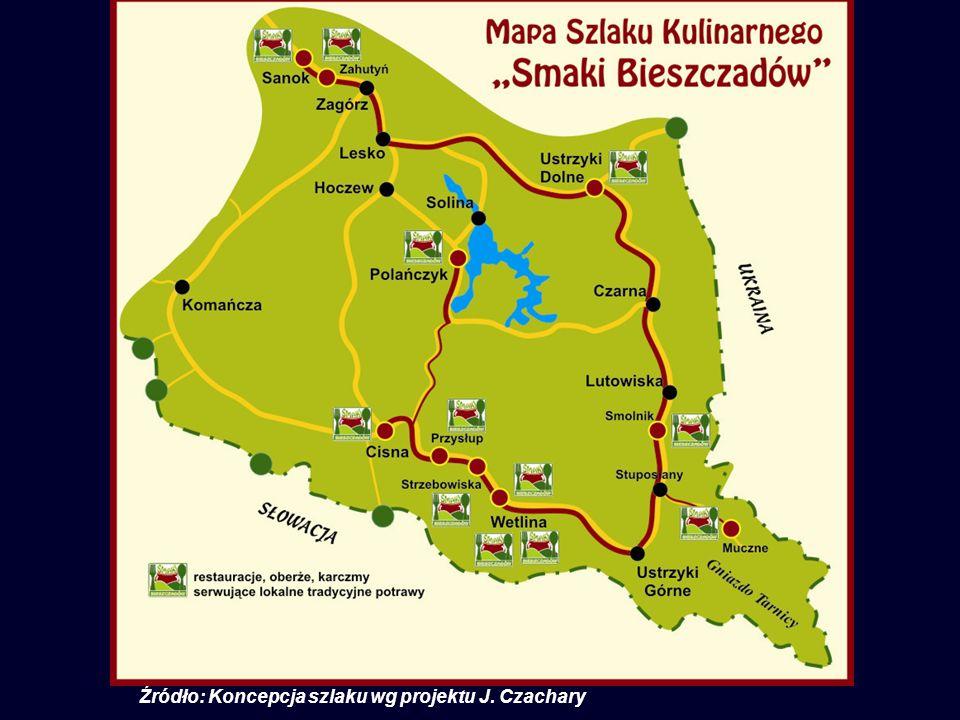 Źródło: Koncepcja szlaku wg projektu J. Czachary