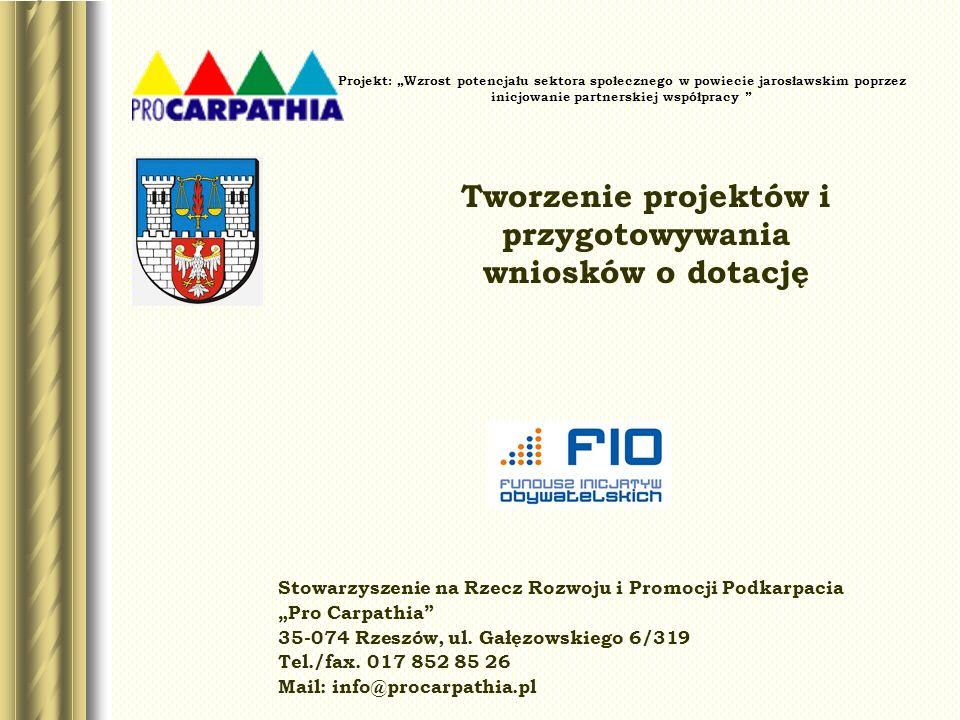 Projekt: Wzrost potencjału sektora społecznego w powiecie jarosławskim poprzez inicjowanie partnerskiej współpracy Stowarzyszenie na Rzecz Rozwoju i P