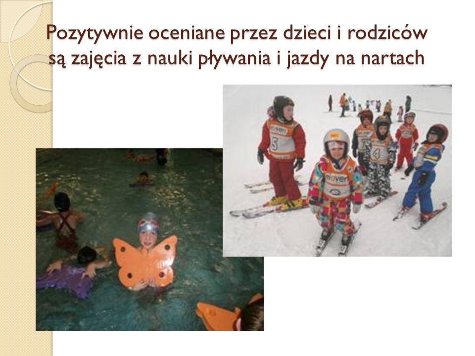 Pozytywnie oceniane przez dzieci i rodziców są zajęcia z nauki pływania i jazdy na nartach