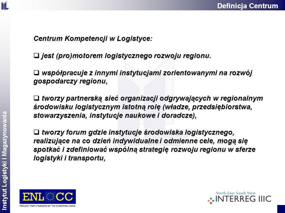 Instytut Logistyki i Magazynowania 2 Centrum Kompetencji w Logistyce: jest (pro)motorem logistycznego rozwoju regionu. jest (pro)motorem logistycznego