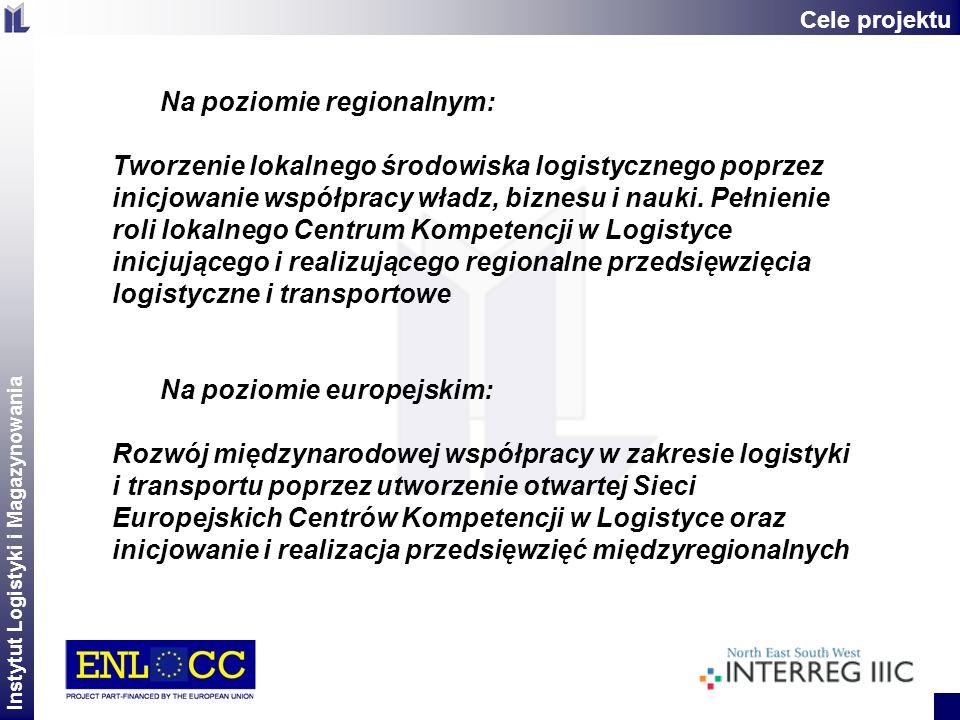 Instytut Logistyki i Magazynowania 2 Na poziomie regionalnym: Tworzenie lokalnego środowiska logistycznego poprzez inicjowanie współpracy władz, bizne
