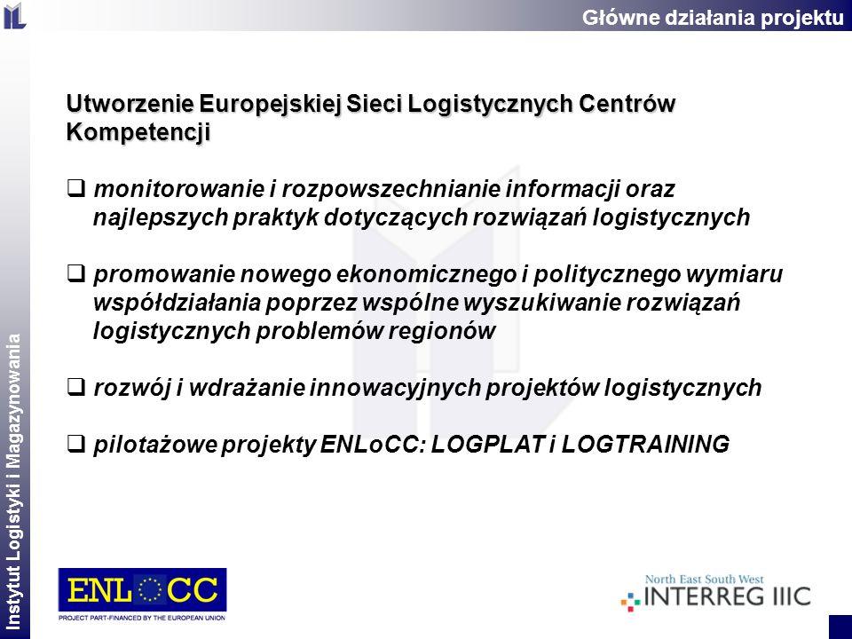 Instytut Logistyki i Magazynowania 2 Utworzenie Europejskiej Sieci Logistycznych Centrów Kompetencji monitorowanie i rozpowszechnianie informacji oraz
