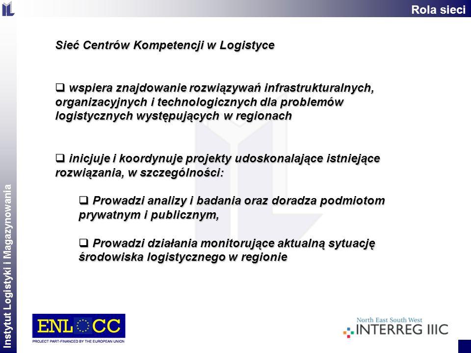Instytut Logistyki i Magazynowania 2 Sieć Centrów Kompetencji w Logistyce wspiera znajdowanie rozwiązywań infrastrukturalnych, organizacyjnych i techn