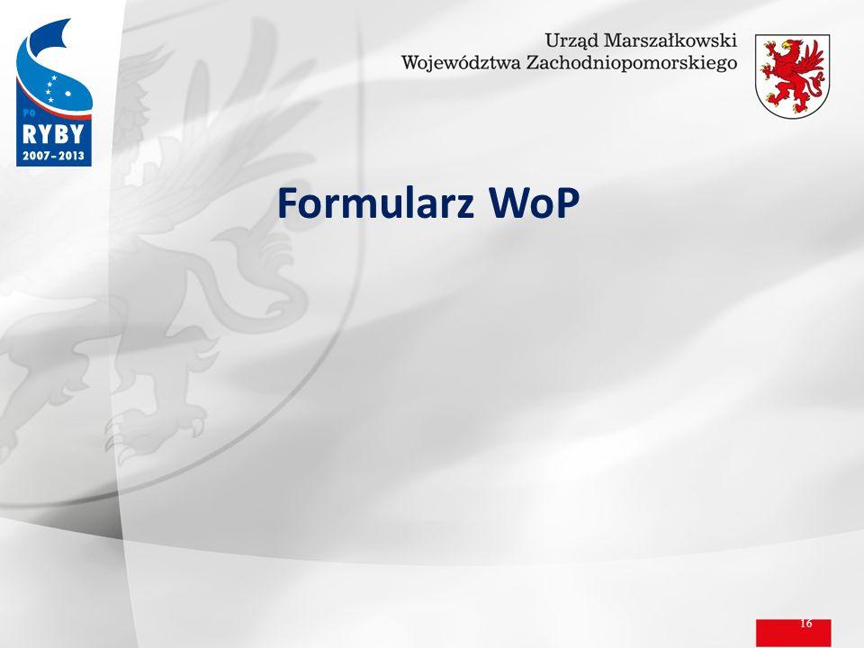 16 Formularz WoP