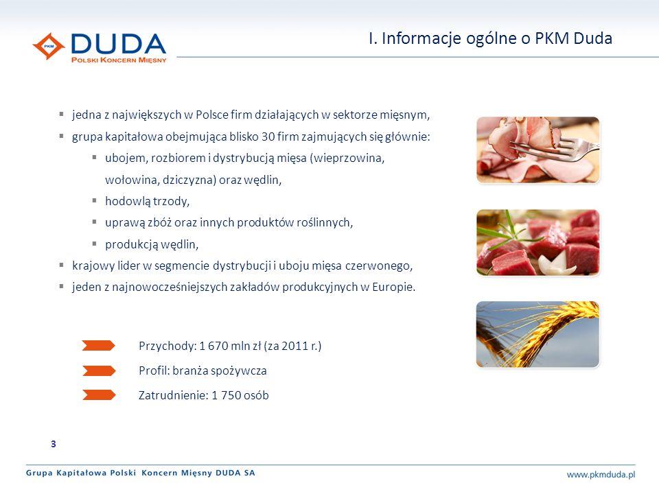 jedna z największych w Polsce firm działających w sektorze mięsnym, grupa kapitałowa obejmująca blisko 30 firm zajmujących się głównie: ubojem, rozbiorem i dystrybucją mięsa (wieprzowina, wołowina, dziczyzna) oraz wędlin, hodowlą trzody, uprawą zbóż oraz innych produktów roślinnych, produkcją wędlin, krajowy lider w segmencie dystrybucji i uboju mięsa czerwonego, jeden z najnowocześniejszych zakładów produkcyjnych w Europie.