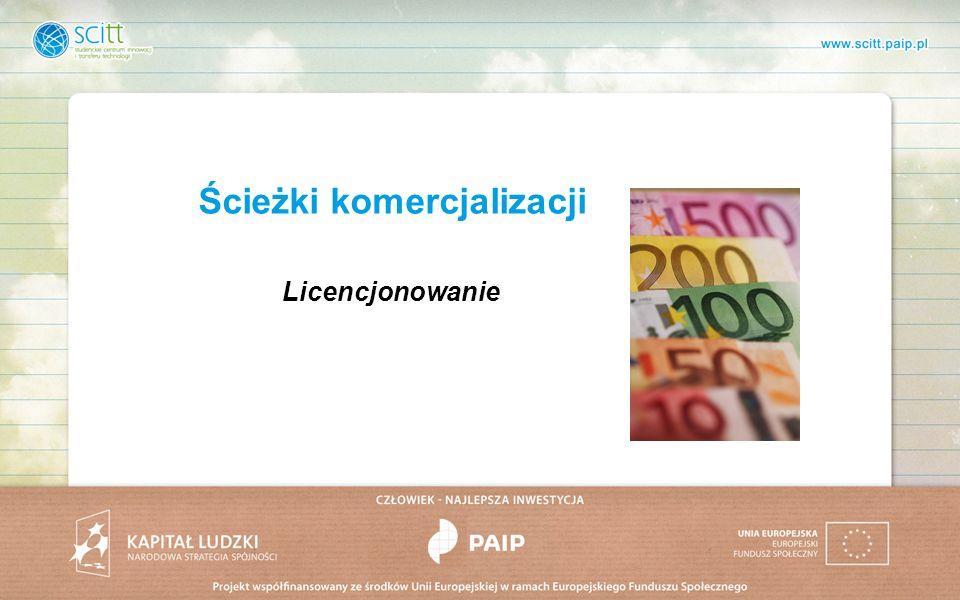 Ścieżki komercjalizacji Licencjonowanie