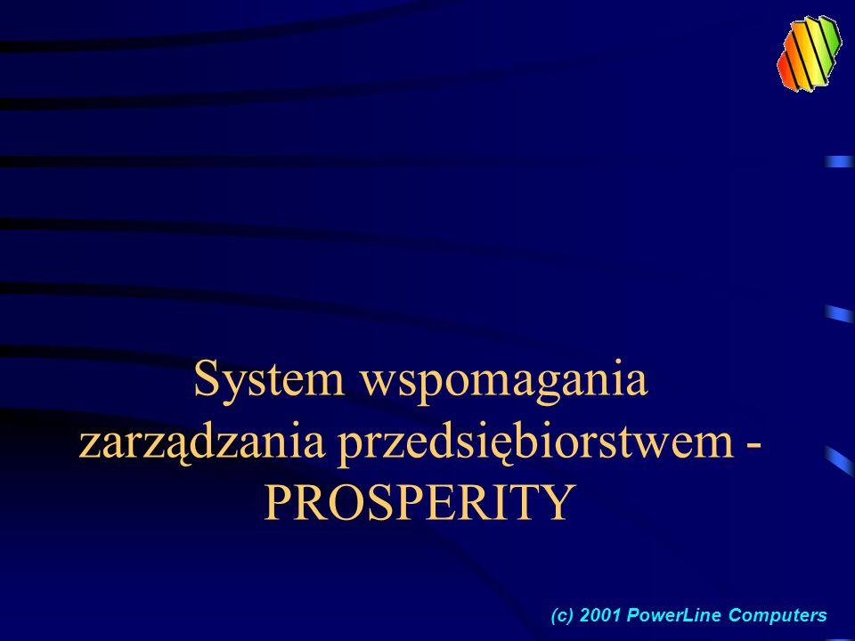 System wspomagania zarządzania przedsiębiorstwem - PROSPERITY (c) 2001 PowerLine Computers