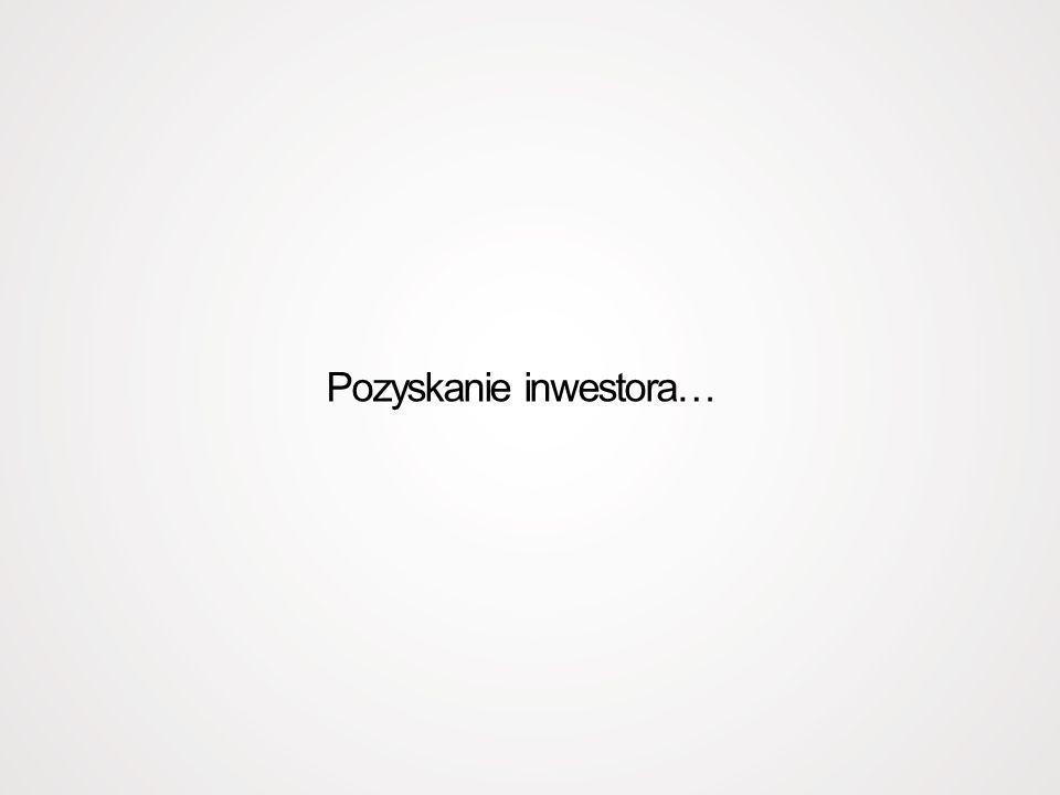 Pozyskanie inwestora…