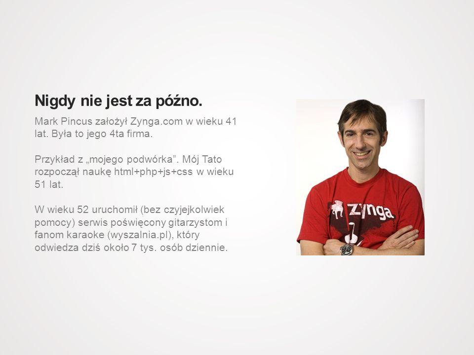 Mark Pincus założył Zynga.com w wieku 41 lat. Była to jego 4ta firma.