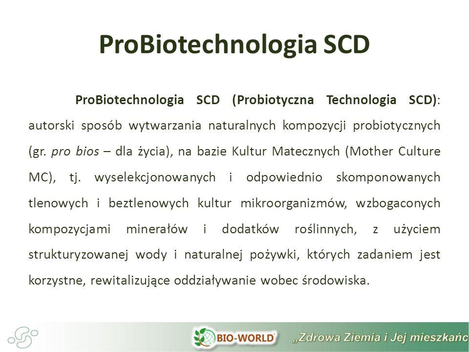 ProBiotechnologia ProBiotechnologia to jedna z naturalnych technologii wykorzystująca niemodyfikowane genetycznie narzędzia biologiczne kompozycji pożytecznych mikroorganizmów, wspierających w zgodzie z prawami natury bioróżnorodność życia roślin, zwierząt i ludzi, znanych na rynku pod nazwą ProBio Emy.