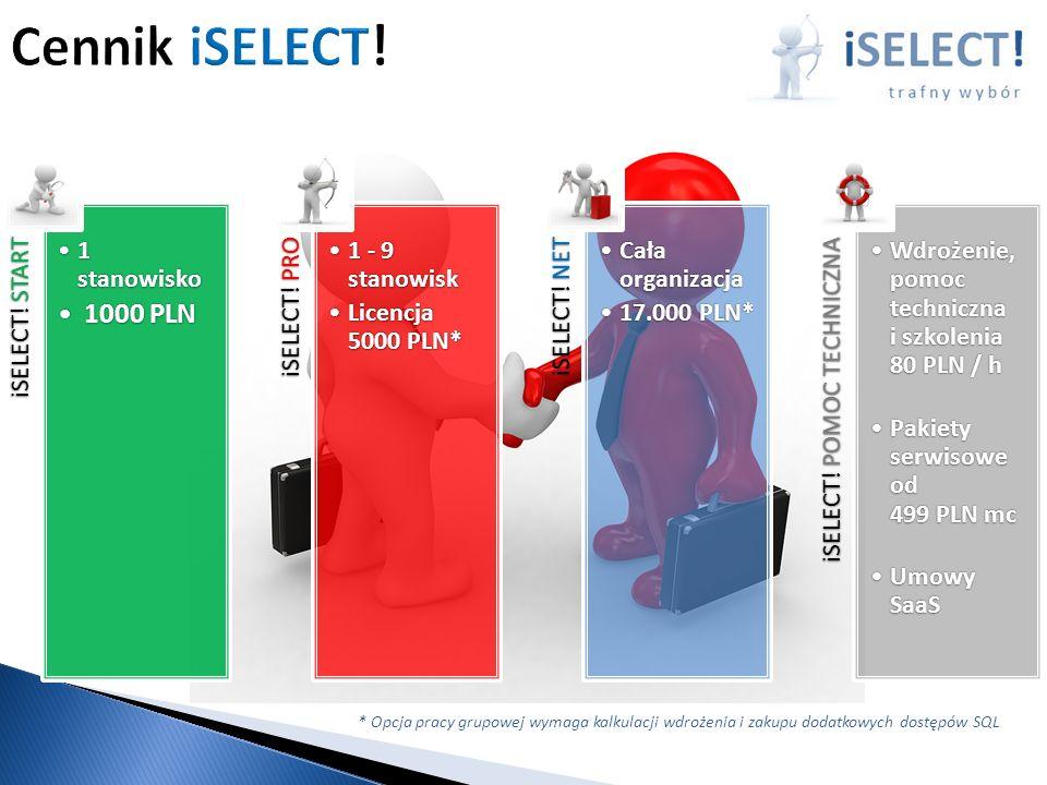 iSELECT.START 1 stanowisko1 stanowisko 1000 PLN1000 PLN iSELECT.