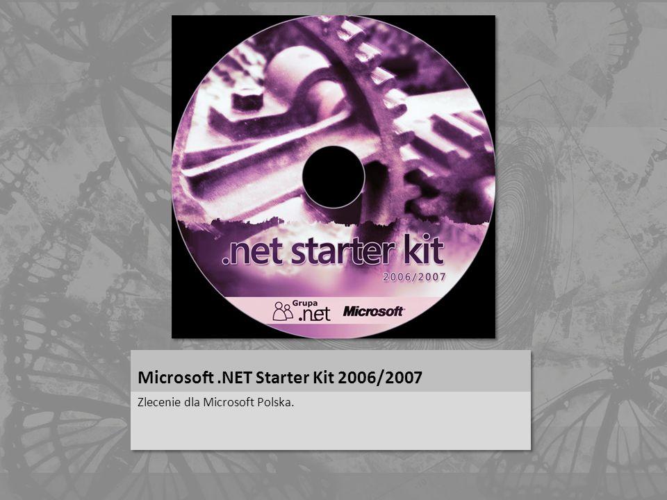 Microsoft.NET Starter Kit 2006/2007 Zlecenie dla Microsoft Polska.