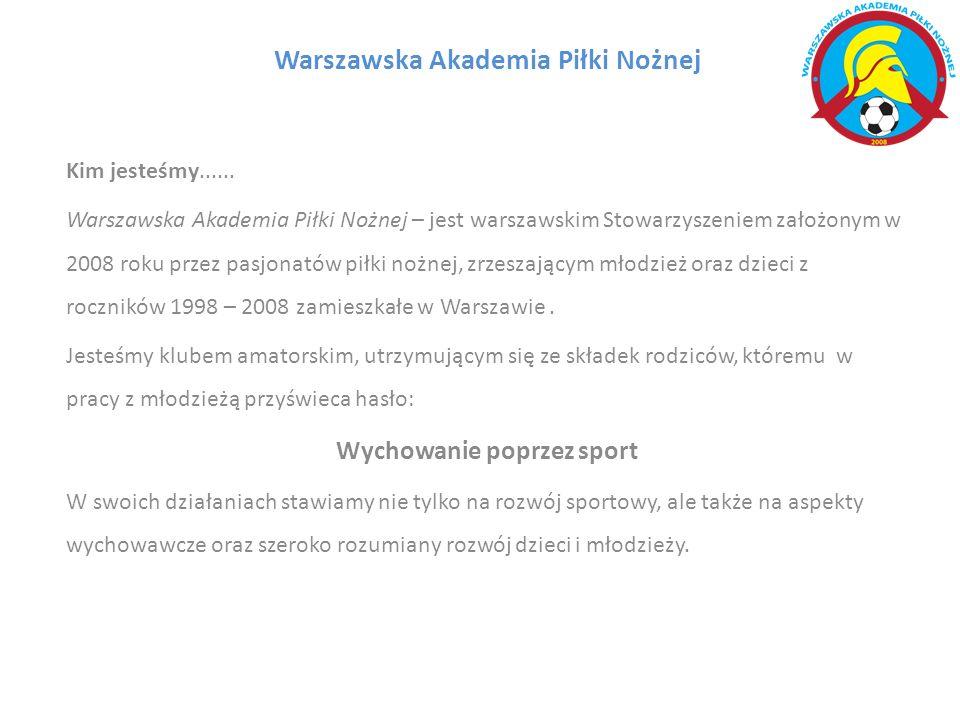 Warszawska Akademia Piłki Nożnej Kim jesteśmy......