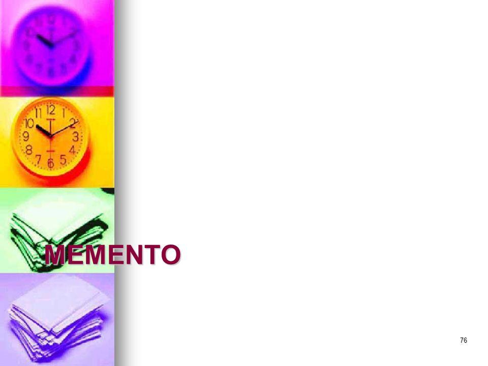 MEMENTO 76