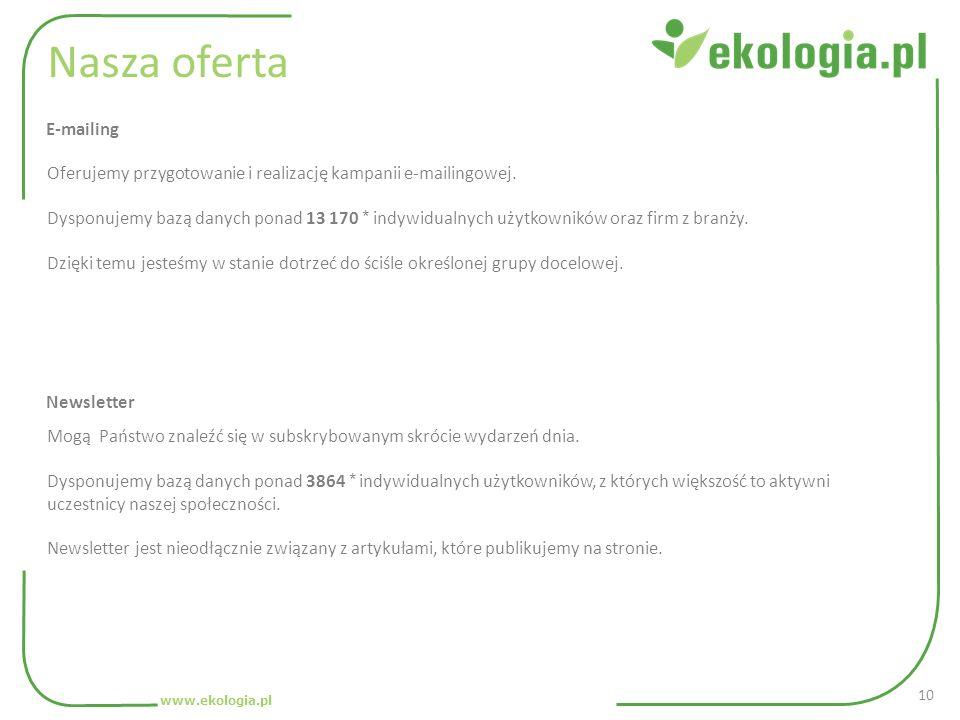 Nasza oferta Oferujemy przygotowanie i realizację kampanii e-mailingowej.