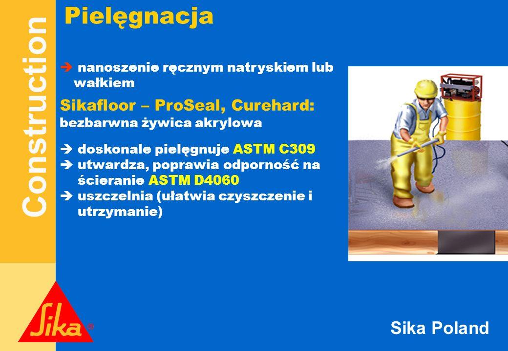 Construction Sika Poland Pielęgnacja nanoszenie ręcznym natryskiem lub wałkiem Sikafloor – ProSeal, Curehard: bezbarwna żywica akrylowa doskonale piel