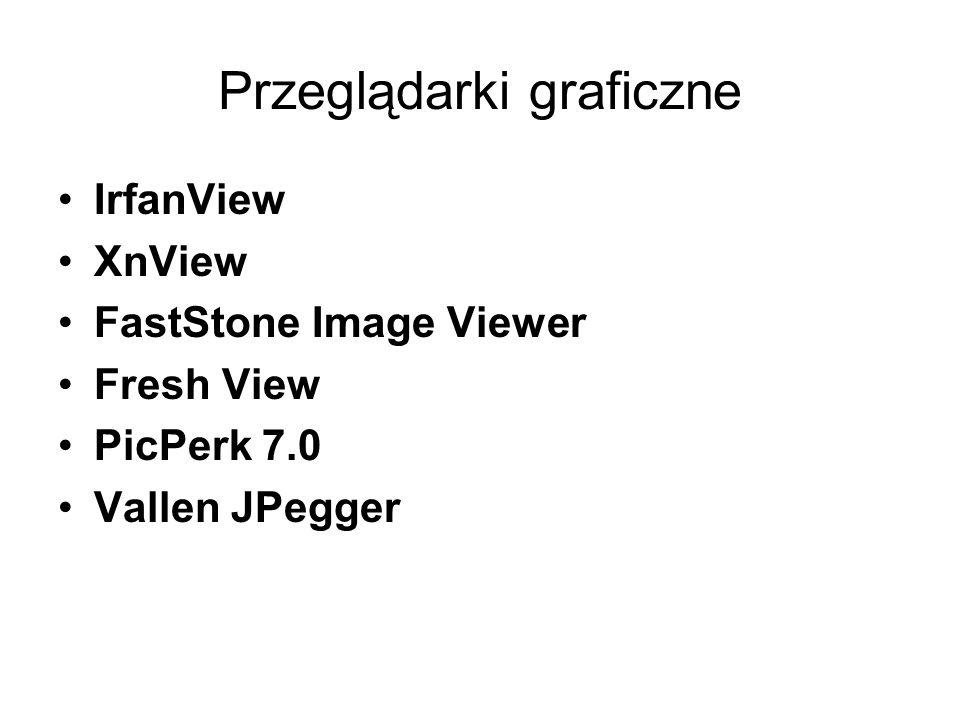Przeglądarki graficzne IrfanView XnView FastStone Image Viewer Fresh View PicPerk 7.0 Vallen JPegger
