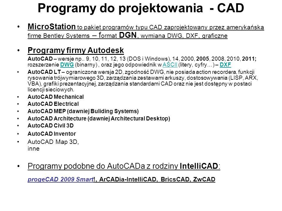 Programy zaawansowane 3D CATIA – zintegrowany system CAD/CAM/FEM.