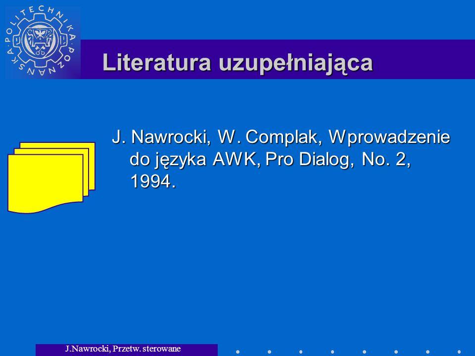 J.Nawrocki, Przetw. sterowane składnią Literatura uzupełniająca J.
