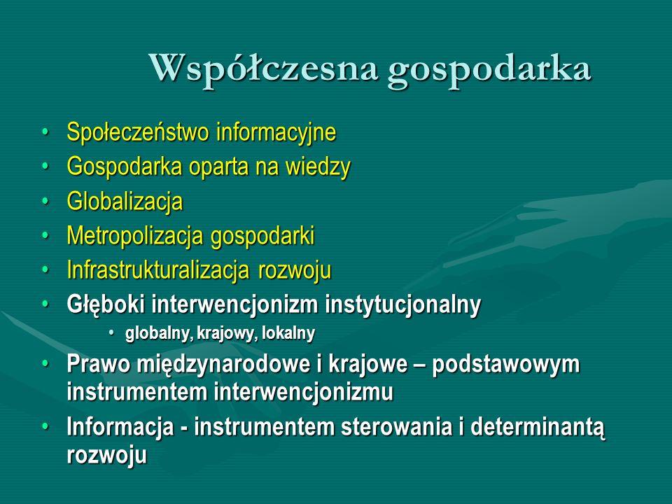 Informacja, ewaluacja i interwencja we współczesnej gospodarce Niepełna informacja = niepełna ewaluacjaNiepełna informacja = niepełna ewaluacja Konkatenacja interwencji lokalnych, narodowych, ponadnarodowych i globalnychKonkatenacja interwencji lokalnych, narodowych, ponadnarodowych i globalnych Ograniczone oddziaływanie interwencjonizmu na szczeblu państwaOgraniczone oddziaływanie interwencjonizmu na szczeblu państwa Dyfuzja międzynarodowa interwencji państwowychDyfuzja międzynarodowa interwencji państwowych Oddziaływanie regulacji międzynarodowych na formy i zakres interwencjonizmu państwOddziaływanie regulacji międzynarodowych na formy i zakres interwencjonizmu państw