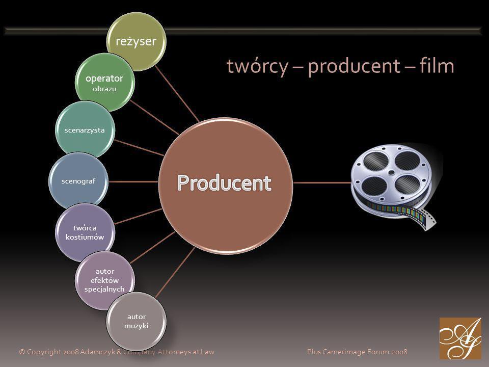 reżyser operator obrazu scenarzystascenograf twórca kostiumów autor efektów specjalnych autor muzyki twórcy – producent – film